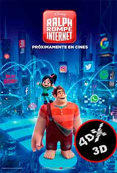 (4DX) (3D) Ralph rompe internet